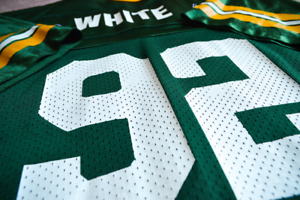★ ★ VINTAGE REGGIE WHITE - GREEN BAY PACKERS JERSEY - Y/XL ★ ★