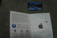 $100 iTunes & via rail gift cards - Never used x-mas gifts