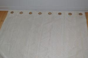 Paire de 2 rideaux blanc nacre (132 x 244 cm)