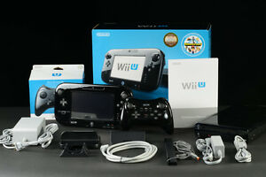 Wii U + 4 Games(complete system & mario kart 8 Wii Party U etc.)