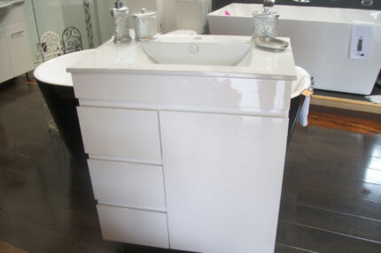 750mm Slim Line China Top Standing Vanity Woy Woy Gosford Area Preview