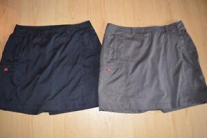 Jupe avec short intégré (1 noire, 1 brune) parfait état