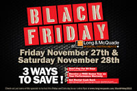 HUGE BLACK FRIDAY SALE AT LONG & MCQUADE WOODSTOCK - 27TH & 28TH