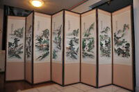 Luxury Home Decoration - Chinese Folding Screen with 8 Panels
