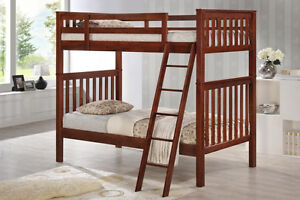 Bunk Bed - Hardwood- Twin/Twin - NEW - By Bunk Beds Canada