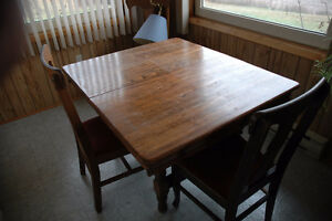 oak table and 5 chairs