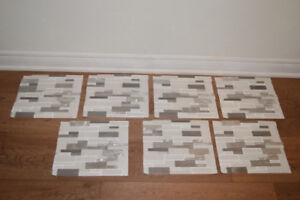 SUBWAY TILE - WHITE/CLEAR/SILVER