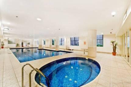 BIG 2 person or couple room + FREE Pool,Gym,Sauna, Spa & Squash!