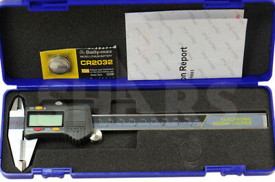 Shars 6 150mm Din862 Electronic Digital Caliper Stainless Carbide Jaw .0005