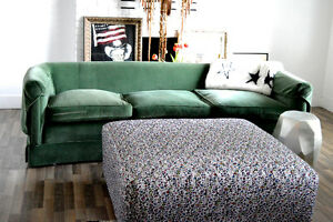 COLOURFUL LEOPARD COVERED OTTOMAN