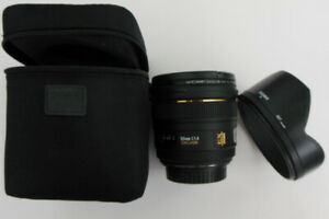 Sigma 50mm F/1.4 EX DC HSM lens for Canon