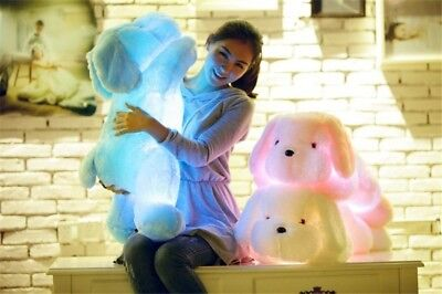 New 50Cm Huge Cute Led Dog Plush Pillow Luminous Stuffed Soft Doll Toy Gift  1Pc