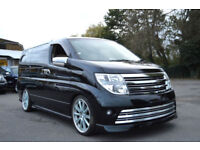FRESH IMPORT LATE 2007 NISSAN ELGRAND 3.5 V6 AUTOMATIC RIDER PEARL BLACK