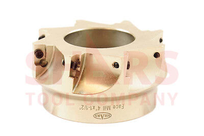 """SHARS 4"""" 90° INDEXABLE FACE MILL CUTTER USE APMT APKT 33 NEW $409.50 OFF"""