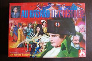 JEU DE SOCIÉTÉ AU HASARD DE L'HISTOIRE ANDRÉ CASTELOT