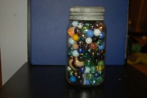 Vintage Canning Jars With with Marbles and some loose Marbles London Ontario image 5