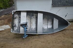 12 foot aluminum boat with free motor