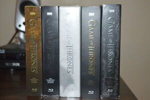 Game of Thrones Seasons ONE to FIVE on BLU RAY
