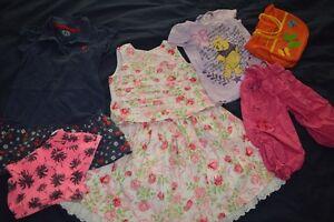 Lot des vêtements pour fille 4 a  5 ans + manteau