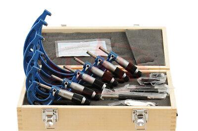 Shars 0-6 6 Premium Outside Micrometer Set Solid Metal Frame .0001 Carbide Tip