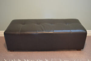 Brown Leather (bonded) Bench