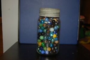 Vintage Canning Jars With with Marbles and some loose Marbles London Ontario image 4