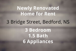 NEWLY RENOVATED Home for Rent – Nov 1st