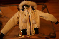 Womens Biege Moose Knuckle Jacket