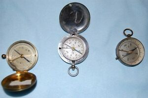 Vintage Pocket Compasses