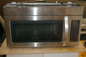"30"" Whirlpool Stainless Steel Microwave Oven Over-The-Range"