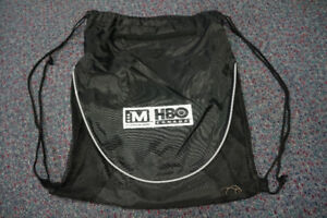 HBO Canada Drawstring Bag/Backpack With Headphone Hole