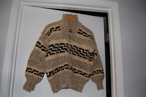 Authentic Cowichan Sweater Cowl Neck zippered front