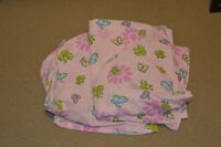 Pink Frog fitted bedding for crib or for toddler's bed