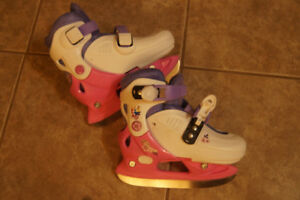 Girls adjustable princess skates
