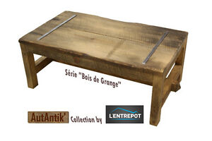 Table de salon AutAntik' série bois de grange