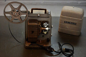 Vintage 1950s Bell & Howell regular 8mm film movie projector