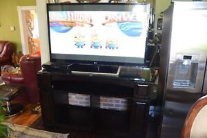 60 in TV Cabinet with Glass Top