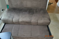 Brown futon pull out seat