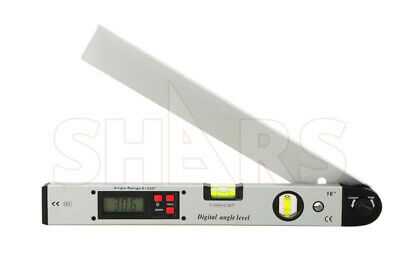 0-225 Lcd Digital Inclinometer Protractor Level Angle Finder Gauge Meter R