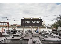 The Ship in Wandsworth are currently look for enthusiastic bar staff to join a vibrant team!
