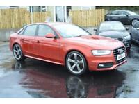 2013 62 AUDI A4 2.0 TDI S LINE BLACK EDITION 4D 174 BHP IN SPECIAL ORDER VOLCANO