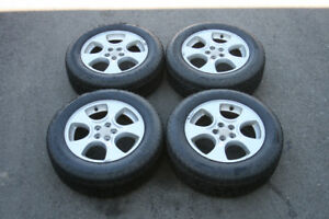 "16"" Subaru Oem Alloy Rims/Tires 5x100 (215/60r16) WINTER TIRES"