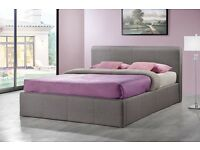 BROOKLYN 4ft double fabric ottoman storage bed grey - RRP£679 - UNBEATABLE PRICE - FREE DELIVERY