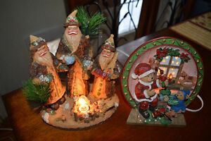 Eight Christmas displays, two light up. $20 for all