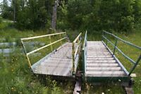 Set of metal/cement steps