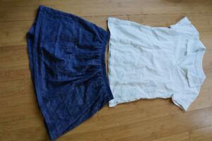 style uniforme bleu et blanc fille 8ans