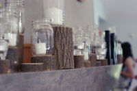 Rustic Wedding Decor - Small wooden rounds