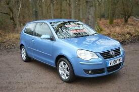 2008 VOLKSWAGEN POLO 1.4 Match 80 3dr Auto one owner only 14,000 miles