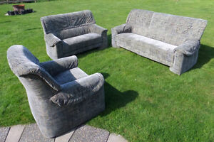 3 Piece, Indoor, Living Room Set: Sofa, Love Seat and Chair $120