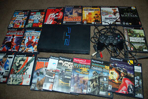 PLAYSTATION 2 WITH 21 GAMES